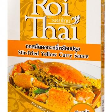 Желтая паста карри для морепродуктов и овощей Roi Thai 80 г.