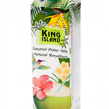Кокосовая вода 100% King Island (без сахара) 1 л