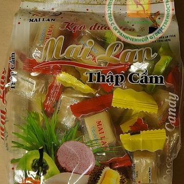 Вьетнамские кокосовые конфеты Май Лан (ассорти) 250гр.