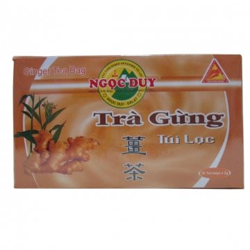 Вьетнамский имбирный чай Тра Гунг (Ginger tea Tra Gung) пакетированный 60г (20шт.х3г)