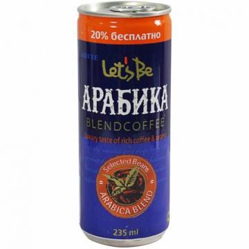 Кофейный напиток Летс Би Арабика (Let's be Arabica), Лотте 235 мл