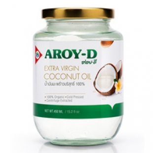 100% кокосовое масло (extra virgin) Aroy-D, Индонезия, 450 ml