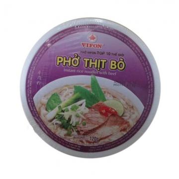 Лапша сублимированная рисовая с говядиной (В чашке) 1 кор.(12 шт.х120 г)