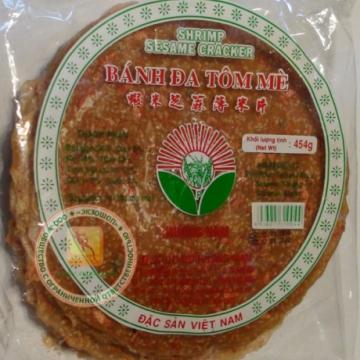 Вьетнамские рисовые чипсы с белым кунжутом 454 г