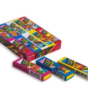 Жевательная резинка «Lotte Color Shanging Bubble Gum» Лотте Колор, (5 пластиков) 12,6 гр.