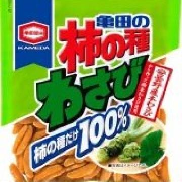 Рисовые крекеры орешки с васаби диетические KAKINOTANE, Япония 115 г