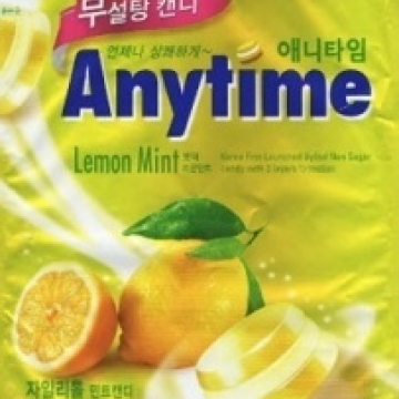 Леденцы Ксилитол Энитайм с лимонно-мятным вкусом (Xylitol Anytime, Lemon Mint) Lotte без сахара 74 г