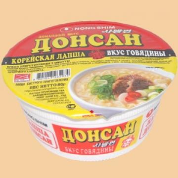 Лапша Донсан с говядиной (В чашке) Корея