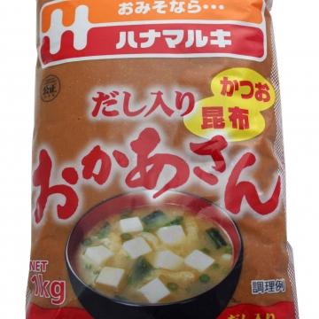 Светлая соевая паста (мисо-паста) Hanamaruki, Япония, 1 кг