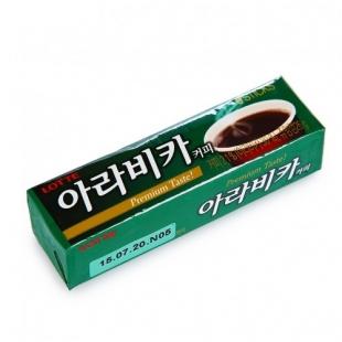 Жевательная резинка «Arabica coffe» Lotte, Южная Корея, 26 г