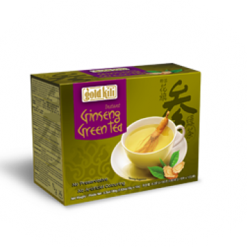 Быстрорастворимый напиток зеленый чай и женьшень  Gold Kili 180 г (10 саше по 18 г)
