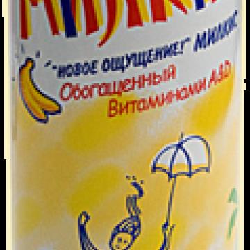 Напиток газированный Милкис Банан, Lotte 250 мл