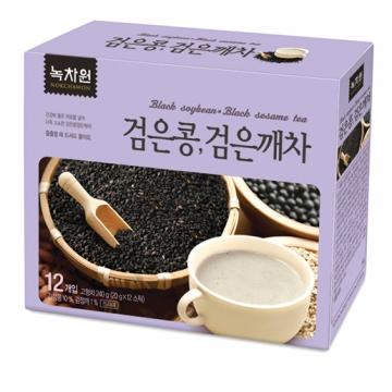 Напиток из черных бобов и черного кунжута (пищезаменитель) Nokchawon, Корея 240г (12саше* 20г)