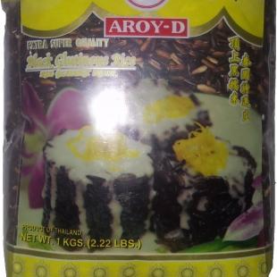 Чёрный клейкий рис Aroy-D, Таиланд, 1 кг