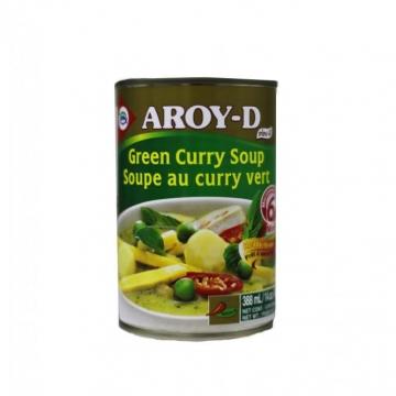 Суп с зеленой приправой карри (Green curry soup) Aroy-D 400 г