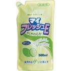 Жидкость для мытья посуды Fresh — Свежий Лайм / ROCKET SOAP / сменная упаковка / 500 мл Япония.