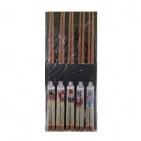 Палочки бамбуковые 5 пар в ассортименте