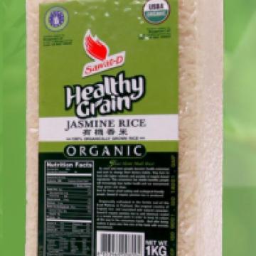 Тайский органический белый рис Жасмин Хом мали (Hom Mali) т.м. SAWAT-D Тайланд 1 кг